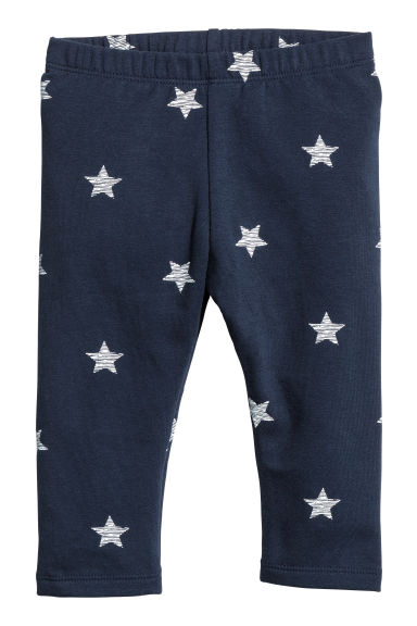 Sweatshirt leggings - Dark blue/Stars - Kids | H&M 1
